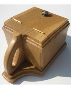 Graveside soil& petal box (Light Oak).