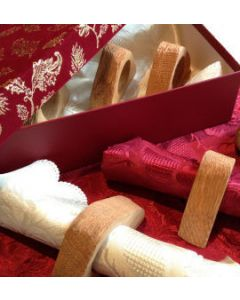 Rustic Napkin Holder Set of 8 with box