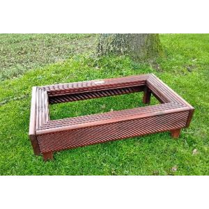 Deluxe Small Pet and Ashes Garden Grave Tidy (Mahogany)