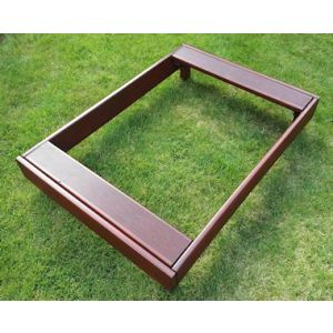Deluxe Pet Grave and Garden Tidy (Mahogany) - Medium Pet
