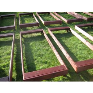 Basic Cemetery Grave Covers (Mahogany) Set of 10