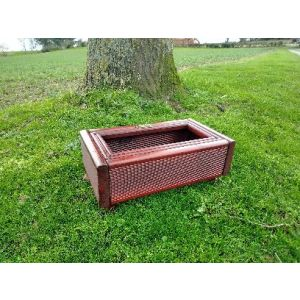 Very Small Pet and Ashes Garden Grave Tidy (Mahogany)