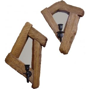 Past Times Mirror Medium - Sconce Set