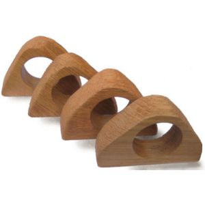 Rustic Napkin Holder Set of 8 (Light Oak)