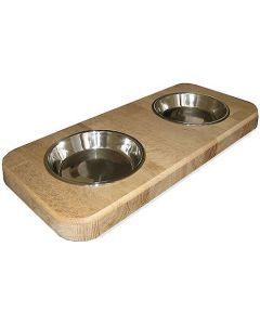 Twin pet bowl holder medium - top view.