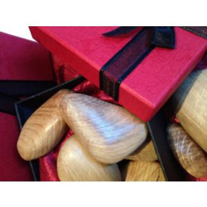 Wooden stones Presentation Box Set of 5 (Light Oak)